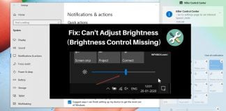 Fix: Brightness Control Missing: Can't Adjust Brightness in Windows 10