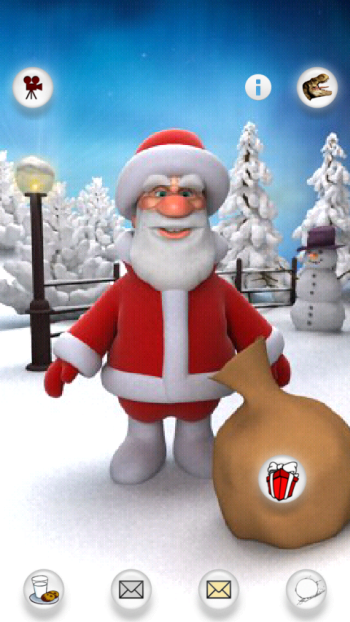 Free Talking Santa for Android Christmas app