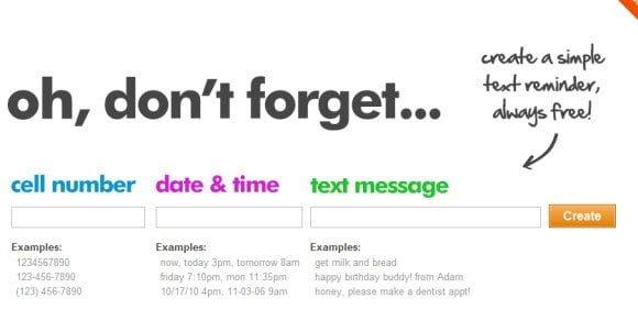 Scheduled text messages