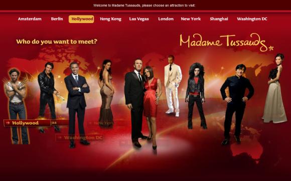 Virtual Tour Madame Tussauds Wax Museums