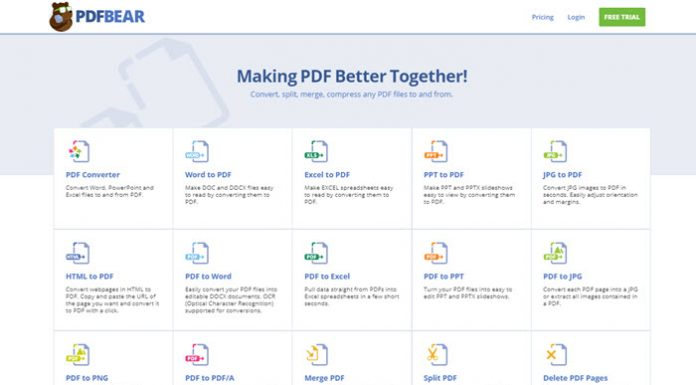 PDFBear Guide: