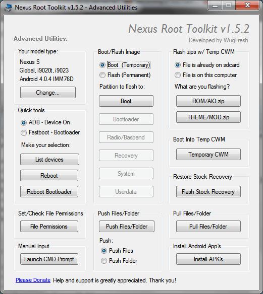 Nexus Root Toolkit Advance Utilities