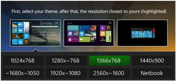 Omnimo Windows 8 Theme options