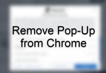 Remove Popup from Chrome