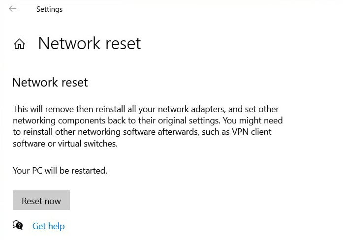 Fix Network Issues - Reset Network Adapter