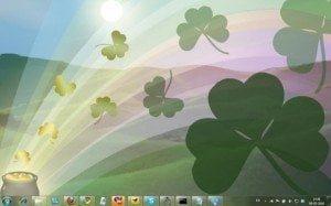 Shamrocks Windows 7 Theme