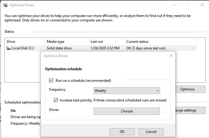 Windows 10 Defrag Schedule