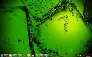 Windows 7 up theme green ice