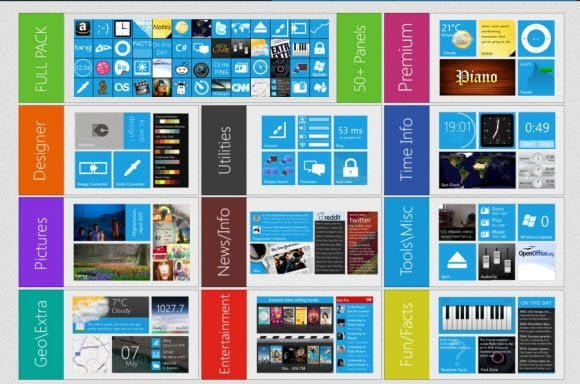 Windows 8 Panels