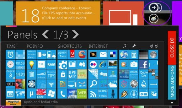 Windows 8 UI Panels