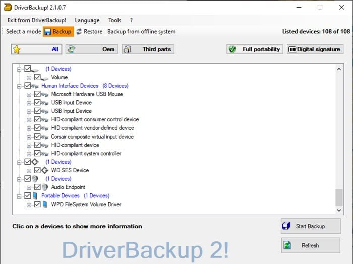How to Backup and Restore from already installed drivers in Windows