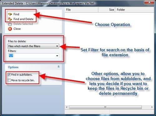 Advanced Delete options