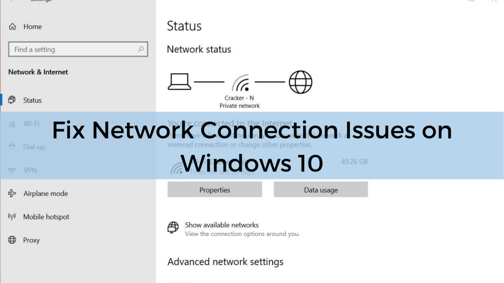 Fix Network Connection Issues on Windows 10