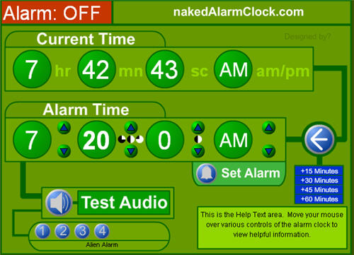 The naked alarm